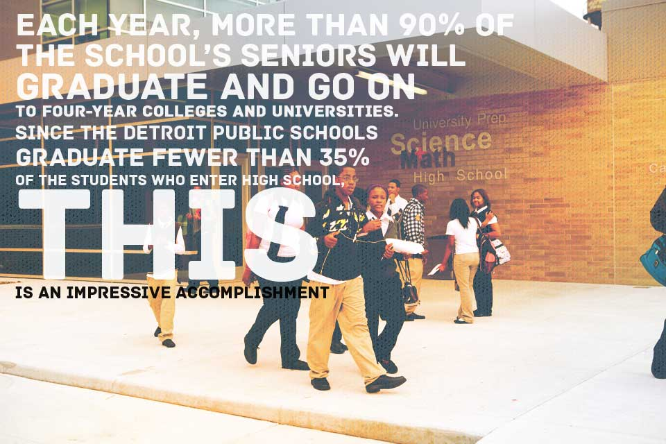 Each year, more than 90% of the school's seniors will graduate and go on to four-year colleges and universities